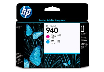 Cabezal HP C4901A (#940) magenta y cyan, compatible con Officejet Pro 8000 Printer / Officejet Pro 8500, original.