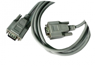 Cable para Monitor SVGA. Conector HD15 macho a HD15 macho. Triple blindaje (tres conductores coaxiales). Moldeado. 1.80 mts