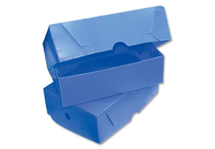 Caja de archivo plastico legajo x 12 cm tapa volcada en for Cajas de plastico precio