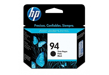 Cartucho Inkjet HP C8765WL (#94) negro, compatible con DeskJet 5740, 570XI, 6540, 6540DT, 6540XI, 6840, 6840DT, 6840XI, 9800, 9800d, PhotoSmart 2610, 2610V, 2610XI, 2710, 2710XI, 8150, 8150V, 8150XI, 8450, 8450XI, OfficeJet d125xi, d135, d145, d155xi,  6210, 6210V, 6210XI, 7110, 7130, 7140xi, 7310, 7310XI, 7410, 7410XI, DeskJet PSC 1610, 1610V, 1610XI, 2350 all in one, 2355, 2355V, 2355XI, Color InkJet Printer cp1160 series, Digital Copier Printer 610, original,  rendimiento 450 páginas aprox., contenido 11 ml.