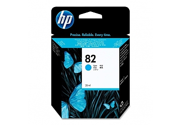Cartucho Inkjet HP C4911A (#82) cyan, compatible con DesignJet 500, 500 ps, 800, 800 ps, DesignJet Copier CC800PS, original.