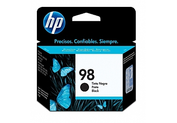 Cartucho Inkjet HP C9364WL (#98) negro, compatible con DeskJet 5740, 5940, 6520, 6540, 6540DT, 6540XI, 6840, 6840DT, 6840XI, PhotoSmart 2575, 2610, 2610V, 2610XI, 2710, 2710XI, 8050, 8150, 8150V, 8150XI, 8450, 8450XI, C4180, D5060, D5063, D5065, D5069, HP Printer/Scanner/Coppier 2355, Officejet 7310/7410 original,  rendimiento 400 páginas aprox. Cont. 11 ml