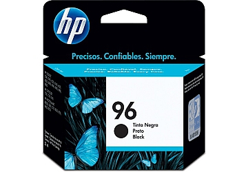 Cartucho Inkjet HP C8767WL (#96) negro, compatible con DeskJet 5740, 5940, 6540, 6540 dt, 6840 dt, 6940, 9800, 9800d PhotoSmart 2610,  2710 All in One, 8150, 8450, 8050, 7310, OfficeJet 6210, 7110, 7130, 7140xi, 7310, 7410 All in One, d125xi, d135, d145, d155xi, Color InkJet Printer cp1160 series, Digital Copier Printer 610, original, rendimiento 800 páginas aprox., contenido 21 ml.