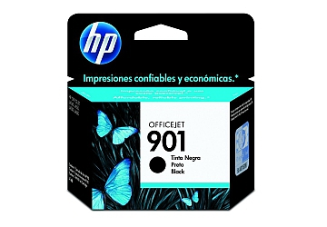 Cartucho HP Officejet CC653AL (#901) negro, compatible con Officejet J4660, J4540, J4550, J4580, J4680 original, rendimiento 200 paginas