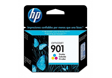 Cartucho Officejet HP CC656AL (#901) Color, compatible con Officejet J4660, J4540, J4550, J4580, J4680 original, contenido 4 ml, rendimiento 360 pag aprox.