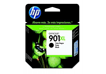 Cartucho HP Officejet CC654AL (#901XL) negro, compatible con Officejet J4660, J4540, J4550, J4580, J4680 original, rendimiento 700 páginas