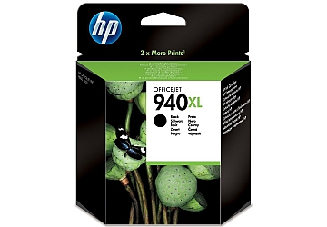Cartucho Inkjet HP C4906AL (#940XL) negro, compatible con OfficeJet Pro 8000 Printer, Pro 8500, original. Rendimiento: 2200 paginas