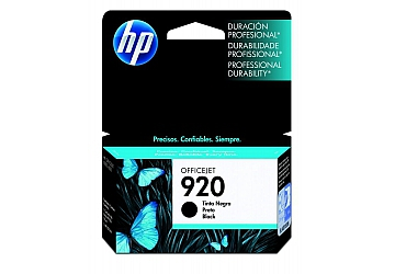 Cartucho Inkjet HP CD971AL (#920) negro, compatible con OfficeJet 6500, OfficeJet 6500 Wireless, OfficeJet 6000 Printer, original, contenido 10 ml.