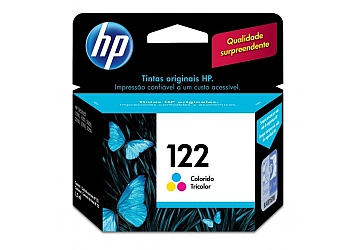 Cartucho Inkjet HP CH562HL original (#122) color, compatible con DeskJet 1000, 1050, 2000, 2050, 3000, 3050, original, rend aprox 100 paginas