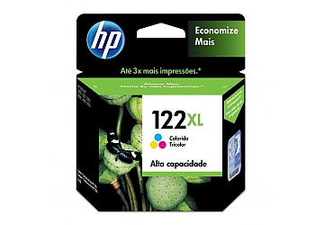Cartucho Inkjet HP CH564HL original (#122XL) color, compatible con DeskJet 1000, 1050, 2000, 2050, 3000, 3050, original, rend aprox 330 paginas