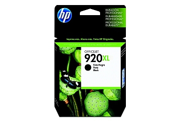 Cartucho Inkjet HP CD975AL (#920XL) negro, compatible con OfficeJet 6500 / OfficeJet 6500 Wireless / OfficeJet 6000 Printer / Officejet 7500A., original, contenido 25 ml.