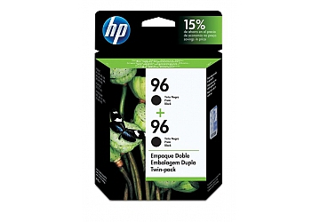 Cartucho Inkjet HP C9348FL Twin Pack negro, compatible con DeskJet 5740, 5940, 6540, 6540 dt, 6840 dt, 6940, 9800, 9800d PhotoSmart 2610,  2710 All in One, 8150, 8450, 8050, 7310, OfficeJet 6210, 7110, 7130, 7140xi, 7310, 7410 All in One, d125xi, d135, d145, d155xi, Color InkJet Printer cp1160 series, Digital Copier Printer 610, original, rendimiento 860 páginas aprox.