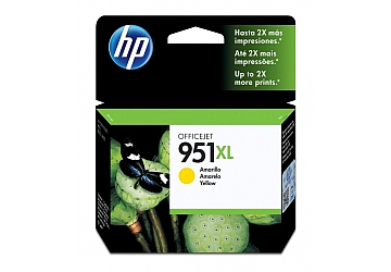 Cartucho Inkjet HP CN048AL (#951XL) amarillo, compatible con OfficeJet Pro 8100 / OfficeJet Pro 8600, original, rinde aprox 1500 paginas