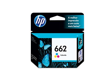 Cartucho Inkjet HP CZ104AL (#662) color, compatible con Deskjet Ink Advantage 2515 / Deskjet Ink Advantage 3515, original, rinde aprox 100 paginas