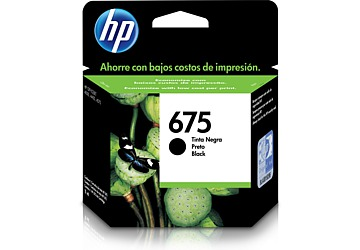 Cartucho Inkjet HP CN690AL (#675) negro, compatible con OfficeJet 4000 / OfficeJet 4400 / OfficeJet 4575, original, rinde aprox 600 paginas