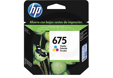 Cartucho Inkjet HP CN691AL (#675) color, compatible con OfficeJet 4000 / OfficeJet 4400 / OfficeJet 4575, original, rinde aprox 250 paginas