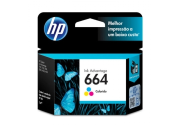 Cartucho Inkjet HP F6V28AL (#664) color, compatible con Deskjet Advantage 1115/2135/3635/3835/4535/4675, original
