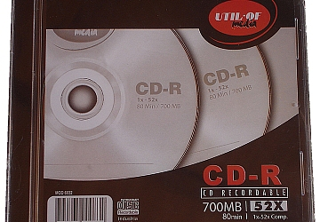 CD Util Of 80min 52x 700Mb, en caja Slim