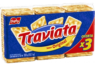 Galletitas Traviata 303grs, pack familiar, pack x 3 unidades