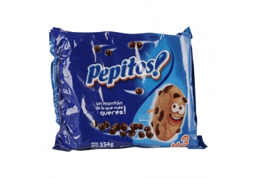 Galletitas Pepitos 354grs, sabor original, pack x 3