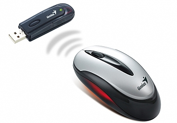 Mouse óptico Genius Wireless Traveler 6000, mini conector USB, Scroll, precisión de 1000 dpi.
