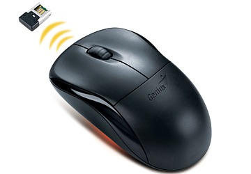 Mouse óptico Genius Wireless NS-6000, mini conector USB, Scroll, 2.4 GHz, precisión de 1000 dpi.