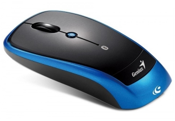 Mouse óptico Genius Bluetooth Traveler 9005BT, tecnología BlueEye con desplazamiento Turbo Scroll. Distancia de trabajo de hasta 10 metros.