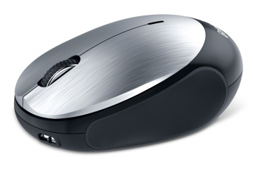 Mouse óptico Genius Bluetooth NX-9000BT, tecnología BlueEye con desplazamiento Turbo Scroll. Bateria de litio recargable de 320mAh. Hasta 4 días de carga