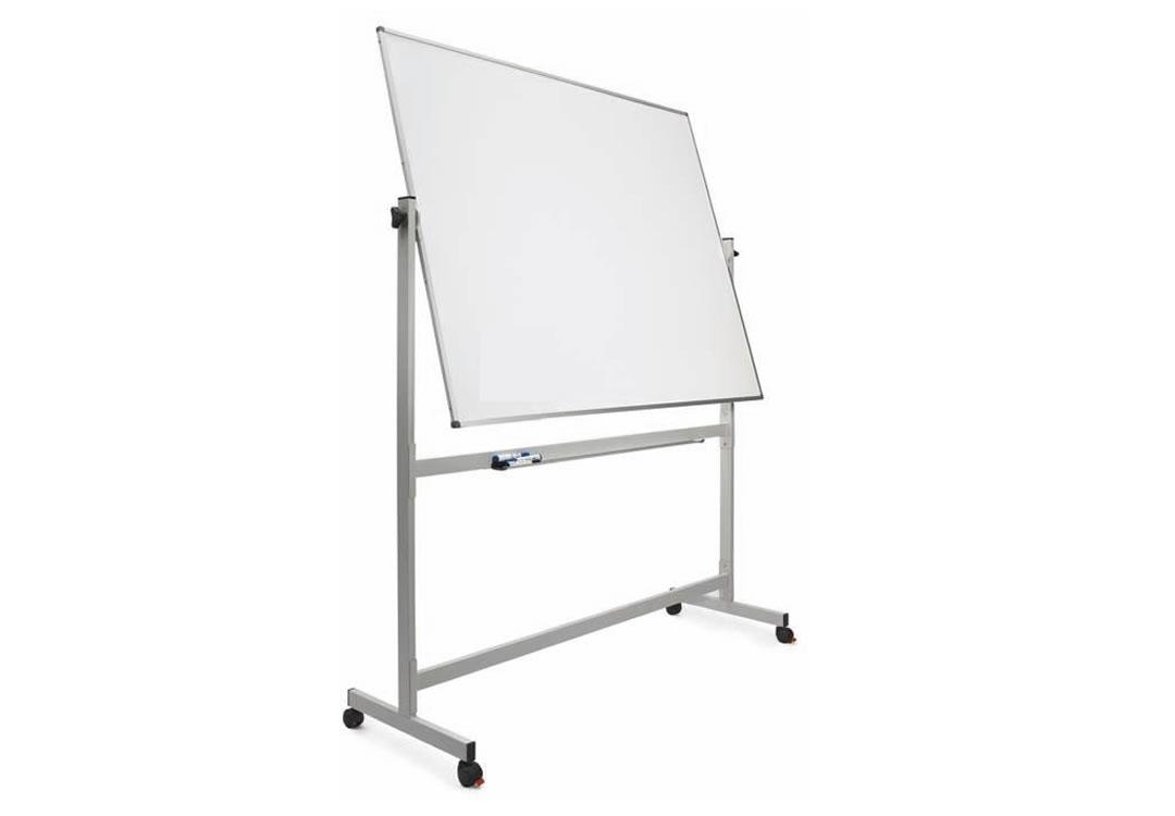 Pizarra blanca magn tica doble faz con pedestal 120 x for Pizarra oficina