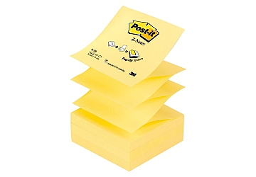 Tacos adhesivos Post-it de 3M R330, 75 x 75 mm Pop-up x 100 hojas
