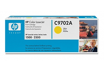Toner HP C9702A, compatible con LaserJet Color 1500 (serie)/2500 (serie), original, Color amarillo, rendimiento 4000 páginas
