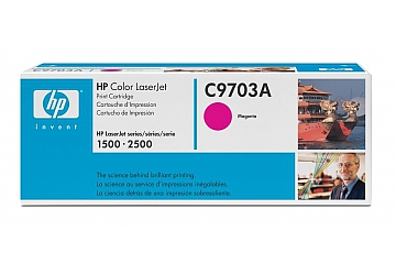 Toner HP C9703A, compatible con LaserJet Color 1500 (serie)/2500 (serie), original, Color magenta, rendimiento 4000 páginas