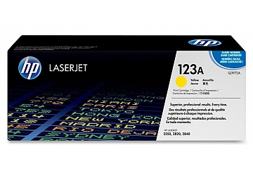 Toner HP Q3972A, compatible con LaserJet Color 2550 (serie)/2800/2820 (serie)/2830/2840 (serie), original, Color amarillo, rendimiento 2000 páginas