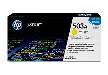 Toner HP Q7582A, compatible con LaserJet Color CP3505 (serie) / 3800 (serie), original, Color amarillo, rendimiento 6000 páginas