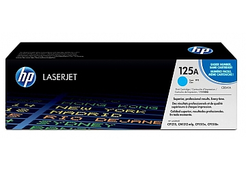 Toner HP CB541A, compatible con LaserJet Color CP1215, CP1218, CP1515, CP1518NI, CM1312MFP, original, color cyan, rendimiento 1400 páginas