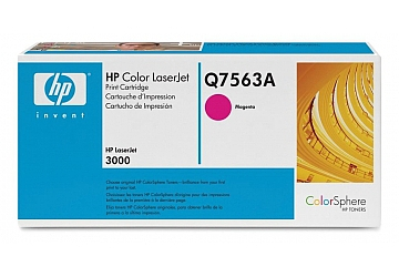 Toner HP Q7563A, compatible con LaserJet Color 3000 (serie), original, Color magenta, rendimiento 3500 páginas