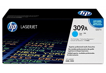 Toner HP Q2671A, compatible con LaserJet Color 3500 (serie) / 3550 (serie), original, Color cyan, rendimiento 4000 páginas