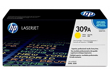 Toner HP Q2672A, compatible con LaserJet Color 3500 (serie) / 3550 (serie), original, Color amarillo, rendimiento 4000 páginas