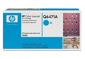 Toner HP Q6471A, compatible con LaserJet Color 3600 (serie), original, Color cyan, rendimiento 4000 páginas