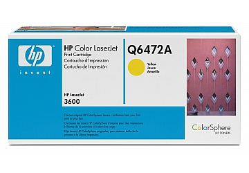 Toner HP Q6472A, compatible con LaserJet Color 3600 (serie), original, Color amarillo, rendimiento 4000 páginas