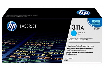 Toner HP Q2681A, compatible con LaserJet Color 3700 (serie), original, Color cyan, rendimiento 6000 páginas