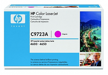 Toner HP C9723A, compatible con LaserJet Color 4600 (serie) / 4650 (serie), original, Color magenta, rendimiento 8000 páginas