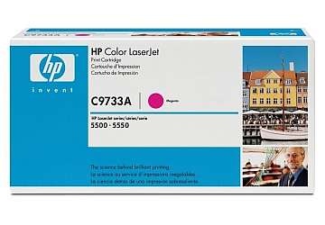 Toner HP C9733A, compatible con LaserJet Color 5500 (serie) / 5550 (serie), original, Color magenta, rendimiento 12000 páginas