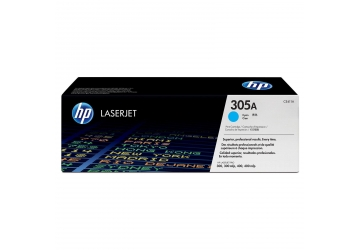 Toner HP CE411A cyan, compatible con LaserJet  Pro 300 color M351A / Pro 300 color M375nw MFP / Pro 400 color M451 (serie) / Pro 400 color M475 (serie), original, rendimiento 2600 páginas